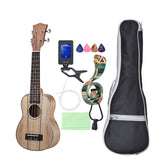 "21"" Spalted Maple & Rosewood Soprano Ukulele Package ZA33 - Zalaxy"