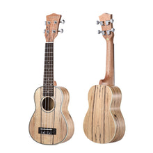 "Load image into Gallery viewer, 21"" Spalted Maple & Rosewood Soprano Ukulele Package ZA33 - Zalaxy"