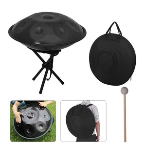 9 Notes Handpan Hand Drum with Carrying Bag ZA34 - Zalaxy
