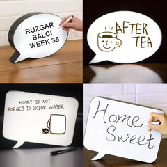 DIY LED Speech Bubble Light Up Box Sign Board Night Light