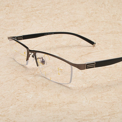 Far And Near Multifunctional Metal Reading Glasses