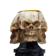 Load image into Gallery viewer, Resin Craft Statues Skull Candlestick Holder