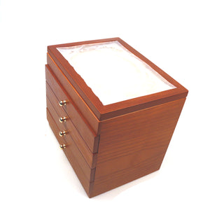 50 Pieces Fountain Pens Holder Wooden Pen Display Case
