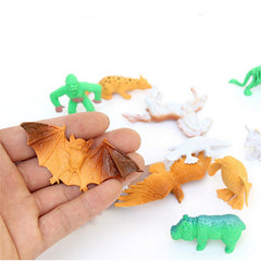 68PCS Plastic Farm Yard Wild Animals Toys Figures