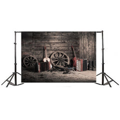 Vintage Grunge Farm Room Thin Vinyl Photography Backdrop