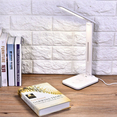 LED Desk Lamp Wireless Phone Fast Charging USB