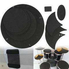 10Pcs Sound Mute Rubber Practice Pad Set