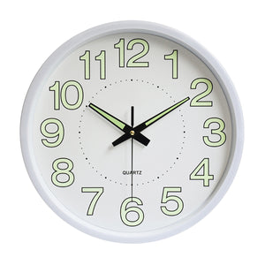 Glow In The Dark Silent Quartz Wall Clock