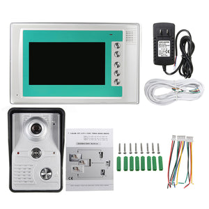 7Inch Wire Video Door Phone Doorbell Intercom