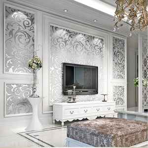 Share to: 3D Silver Victorian Wall Sticker