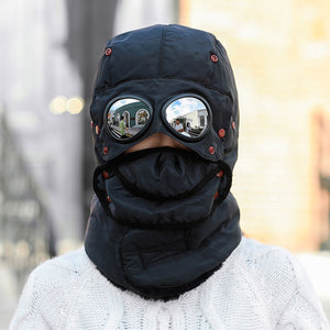 Thermal Winter Trapper Hat Face Mask