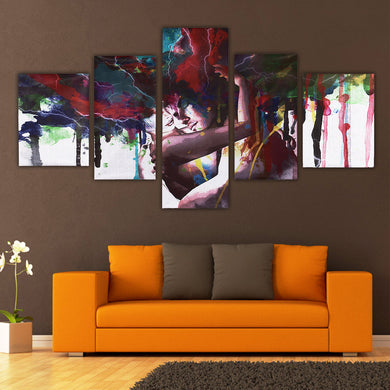 5pcs. Abstract Couple Canvas Print Painting