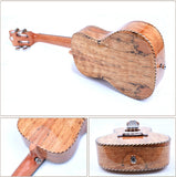 "21"" Slotted Headstock AA Spalted Maple Soprano Ukulele LA7 - Zalaxy"