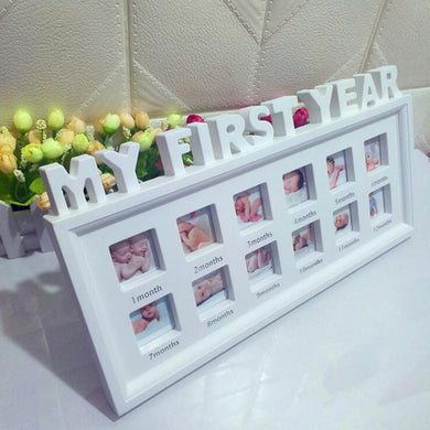 My First Year Baby Photo Frame