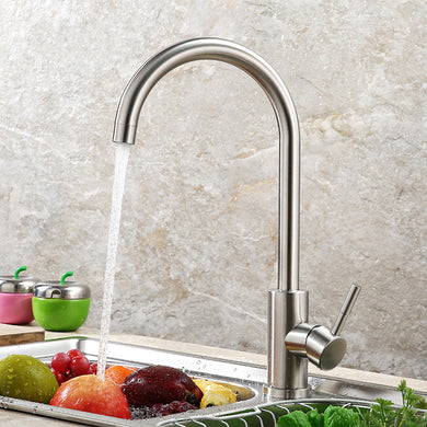 Kitchen Faucet 360 Rotate Stainless Steel