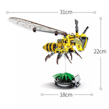 Load image into Gallery viewer, DIY Bumblebee Flying Insect Building Blocks Bricks Toy