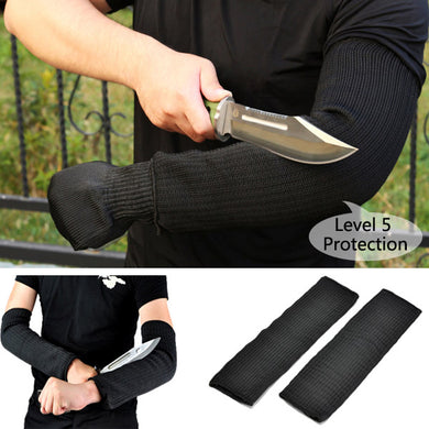1 Pair Steel Wire Safety Anti-cutting Arm Sleeves