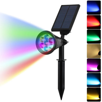 Solar Color Changing 7 LED Waterproof Spot Light