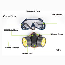 Load image into Gallery viewer, Protection Antivirus Filter Chemical Respirator Safety Mask