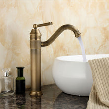 Load image into Gallery viewer, Tall Antique Bathroom Kitchen Sink Basin Faucet