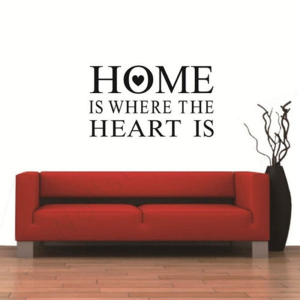 Home Is Where Heart Is Quote Wall Sticker