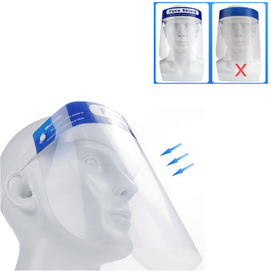 5Pcs Transparent Plastic Facial Cover Safety Protective Face Mask