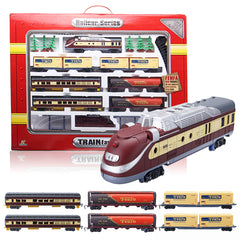 Electric Classic Train Rail Vehicle Toys Set