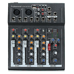 48V Professional 4-Channel Live Studio Audio Sound Mixing Console