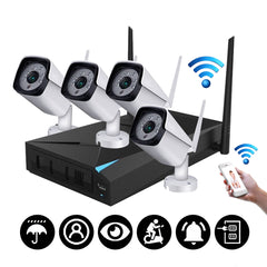 4CH Wireless Wi-Fi 1080P IP Camera HDMI System