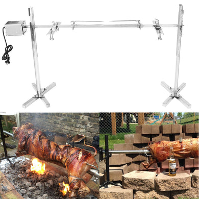 Stainless Steel Portable Rotisserie Grill Spit Tripod