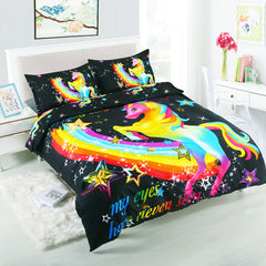 3D Animal Unicorn Queen Size Beddings
