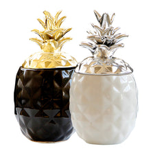 Load image into Gallery viewer, Ceramic Chic Pineapple Jar Storage Canister