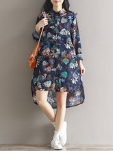 Load image into Gallery viewer, Women's Floral Beach Loose Dress