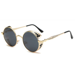 Women Punk Round Ladies Polarized Sunglasses