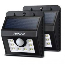Load image into Gallery viewer, Mpow Super Bright 8 LED Solar Powered Wireless Security Light X2 - Zalaxy