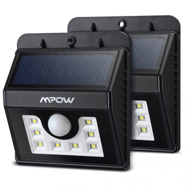 Super Bright 8 LED Solar Powered Wireless Security Light X2 - Zalaxy