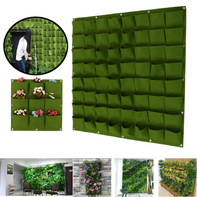 9-64 Pockets Plant Pot Felt Vertical Garden Hanging