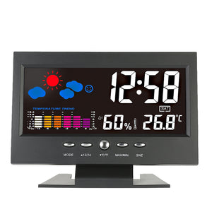 Digital Wireless Colorful Screen USB Backlit Weather Station Thermometer