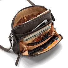 Load image into Gallery viewer, Multi-pocket Faux Leather Crossbody Bag
