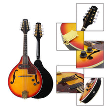 Load image into Gallery viewer, 8 Strings Sunset Color Electric Mandolin