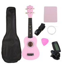 Load image into Gallery viewer, 21 Inch Economic Soprano Ukulele Uke Musical Instrument With Gig bag Strings Tuner