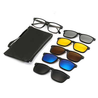 Magnetic Frame Six-in-one Sunglasses