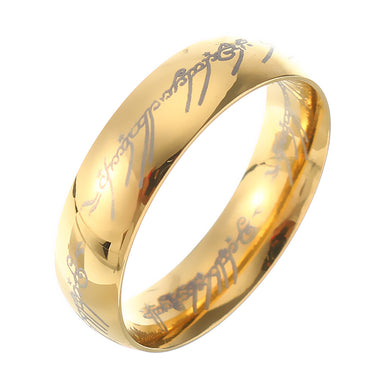 18K Gold Plated LOTR Finger Ring