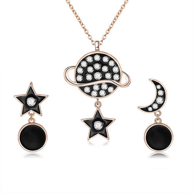 Stylish Star Moon Rhinestones Jewelry Set