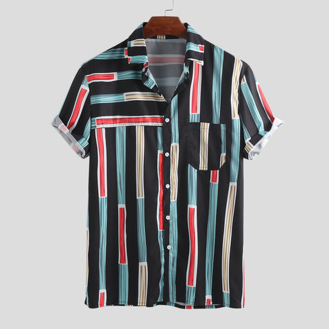 Mens Summer Fashion Stripe Shirts