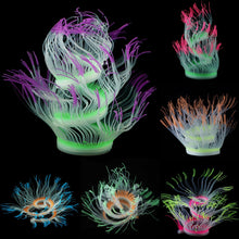 Load image into Gallery viewer, Aquarium Fish Tank Decor Silicone Sea Anemone Plant Artificial