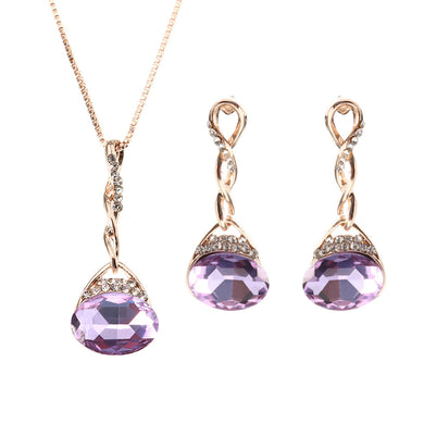 Elegant Purple Gem Jewelry Set