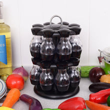 Load image into Gallery viewer, 16 Jar Rotating Spice Rack Carousel Kitchen Storage Holder Condiments