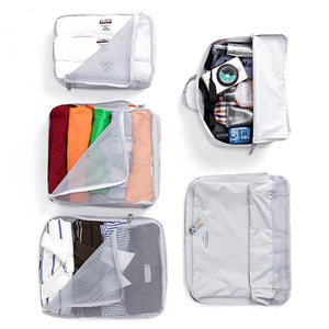 5 Piece Waterproof Luggage Storage Bag