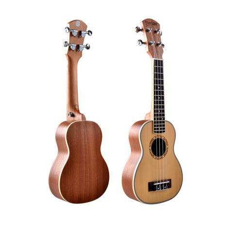 "21"" Spruce Wood Soprano Ukulele UK50 - Zalaxy"